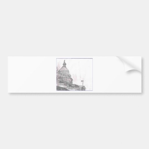 capitol building.PNG Drawing of Capitol Building Bumper Sticker