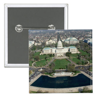 Capitol Hill Aerial Photograph 2 Pinback Buttons