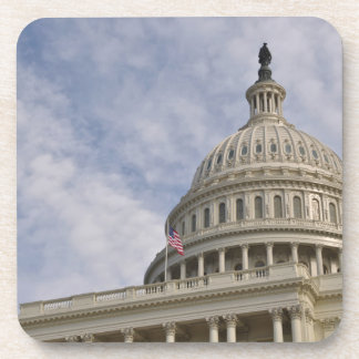 Capitol Hill Building in Washington DC Beverage Coasters
