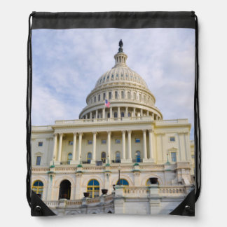 Capitol Hill Building in Washington DC Drawstring Bag