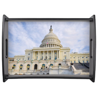 Capitol Hill Building in Washington DC Serving Tray