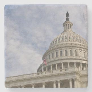 Capitol Hill Building in Washington DC Stone Coaster