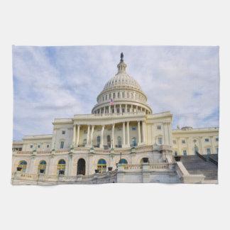 Capitol Hill Building in Washington DC Tea Towel