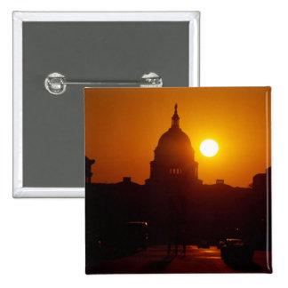 Capitol Hill Sunset Pinback Button