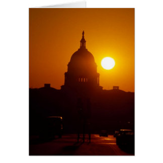Capitol Hill Sunset Greeting Card