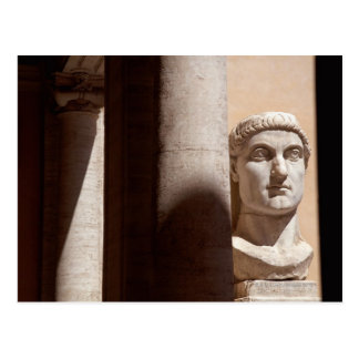 Capitol museum, bust face of emperor constantine postcard