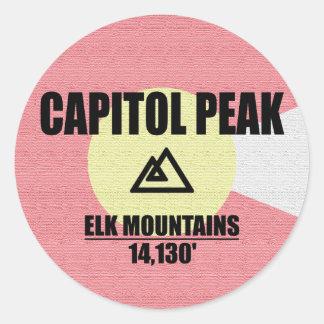 Capitol Peak Classic Round Sticker