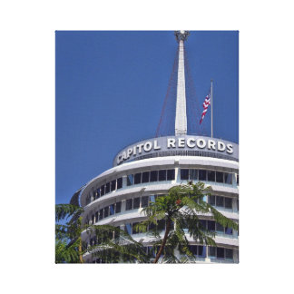 Capitol Records Building - Hollywood Stretched Canvas Print