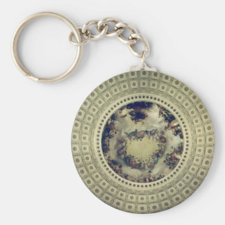 capitol rotunda round basic round button key ring