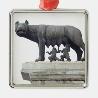 Capitoline Wolf Statue (She-wolf suckling), Metal Ornament