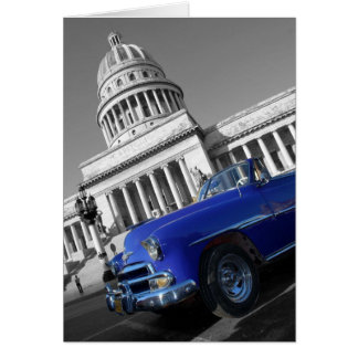 Capitolio Old Blue Car Card