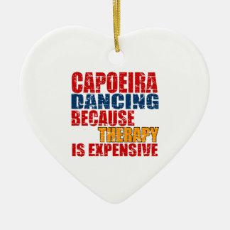 Capoeira Dance Designs Ceramic Heart Decoration