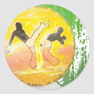capoeira ginga axe sticker