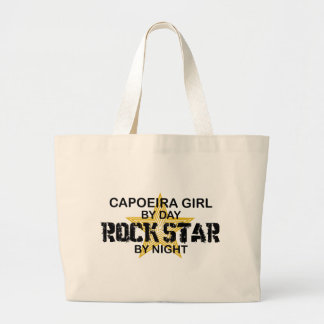 Capoeira Girl Rock Star by Night Large Tote Bag