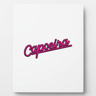 Capoeira in magenta photo plaque