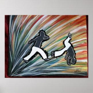 capoeira jogo mma dance ginga love gift poster