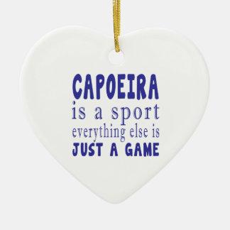 CAPOEIRA JUST A GAME CERAMIC HEART DECORATION