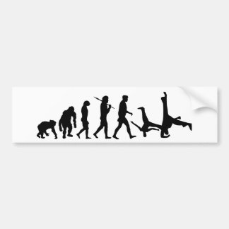Capoeira martial arts dance evolution gift bumper sticker
