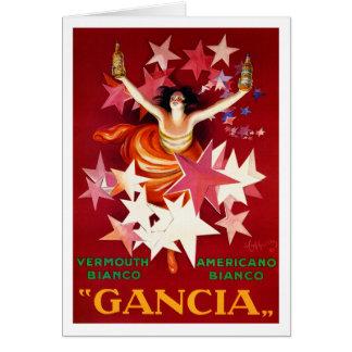 Cappiello Card or Invitation:  Gancia Vermouth