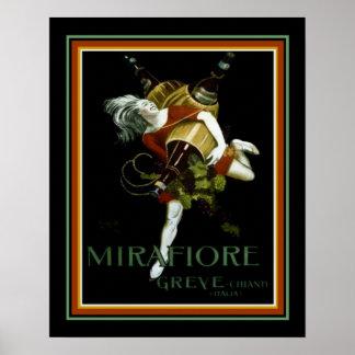 Cappiello Deco Ad for Mirafiore Greve 16 x 20 Poster
