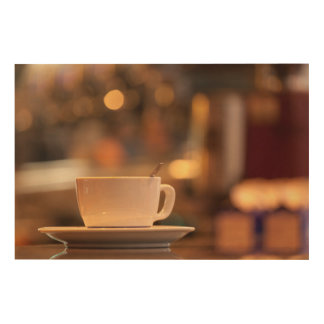 Cappuccino coffee, Venice, Italy Wood Print