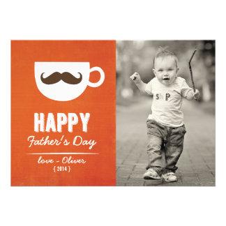 Cappuccino Mustache | Happy Father's Day Card