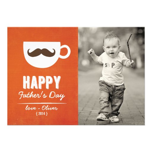 Cappuccino Mustache | Happy Father's Day Card