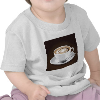 Cappuccino With Swirl T-shirt