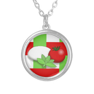 Caprese Silver Plated Necklace