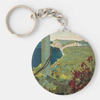 Capri Basic Round Button Key Ring