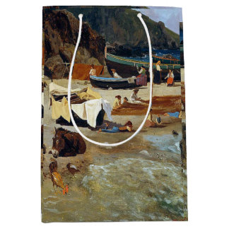 Capri Beach Italy Fishing Boats Fishermen Gift Bag