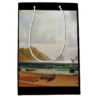 Capri Beach Italy Fishing Boats Light Gift Bag