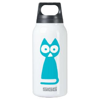 Capri blue Triangle Symbolic Cat Insulated Water Bottle