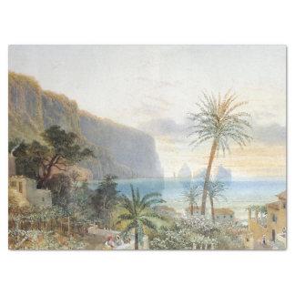 Capri Island Italy Ocean Palm Trees Tissue Paper