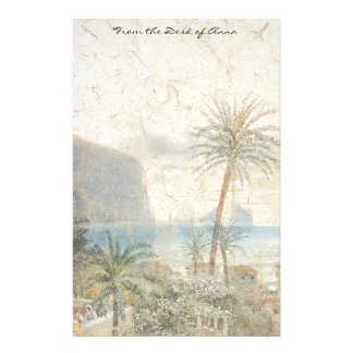 Capri Islands Palm Trees Houses Italy Stationery