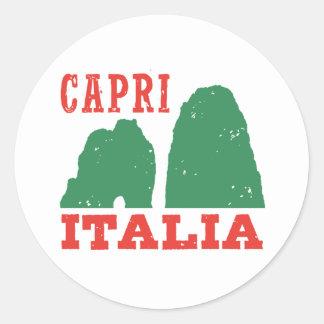 Capri Italia Classic Round Sticker
