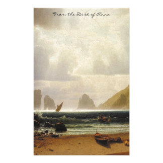 Capri Italy Fishing Boats Beach Ocean Stationery