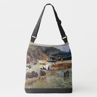 Capri Italy Fishing Boats Fishermen Tote Bag