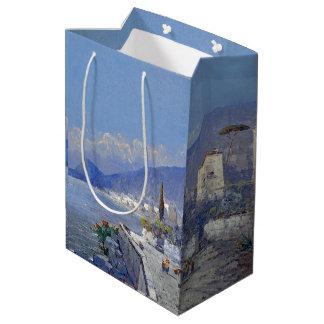 Capri Italy Island Ocean Flowers Blue Sea Gift Bag