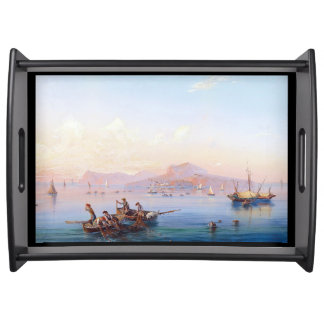 Capri Italy Mediterranean Sea Boats Serving Tray