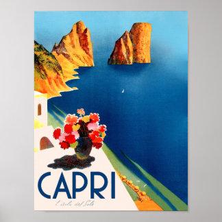 Capri, Italy travel poster