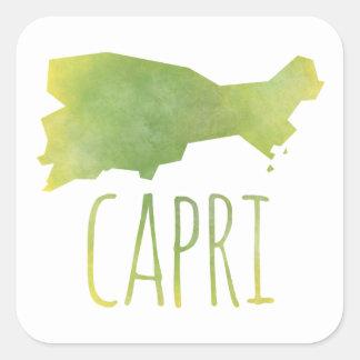 Capri Square Sticker