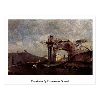 Capriccio By Francesco Guardi Postcard