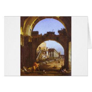 Capriccio of the Capitol by Bernardo Bellotto Card