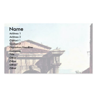 Capriccio Romano Gate And Guard Tower Pack Of Standard Business Cards