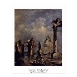 Capriccio With Pyramid By Francesco Guardi Postcard