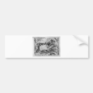 Caprice decorative frames in the middle of a wall bumper sticker