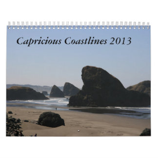Capricious Coastlines 2013 Wall Calendar