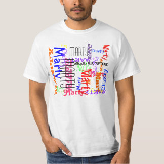 Capricious Repeating Name Collage T-Shirt