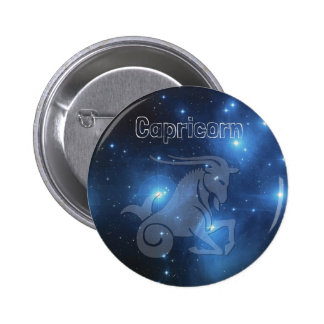 Capricorn 6 Cm Round Badge